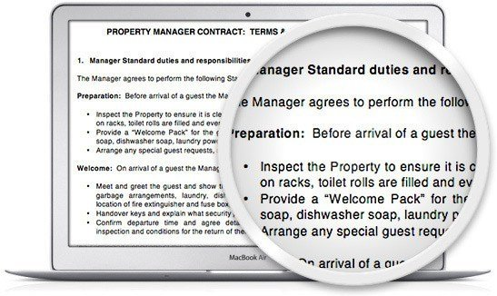 you should also use a property manager contract