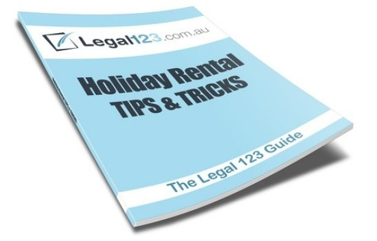 the Legal123 holiday rental package includes a tips and tricks guide