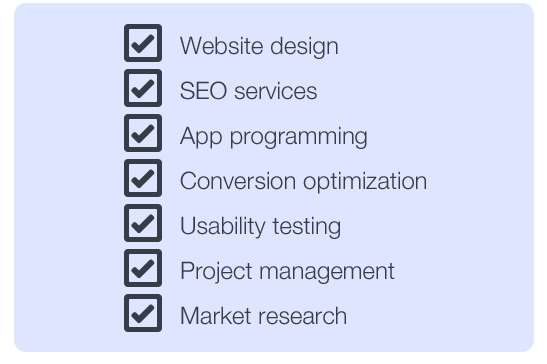 use a website contract to hire website service providers