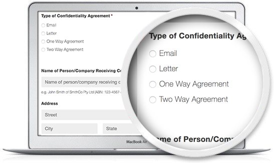 image of the Legal123 confidentiality agreement template
